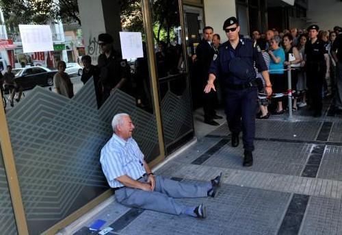 Rentner in Athen